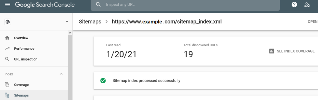 XML Sitemap Check - GSC