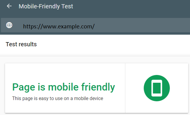 Mobile-Friendly Test Example