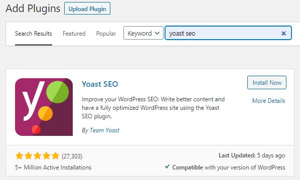 Yoast SEO Plugin in WordPress