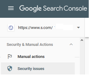 Security Issues - Google Search Console