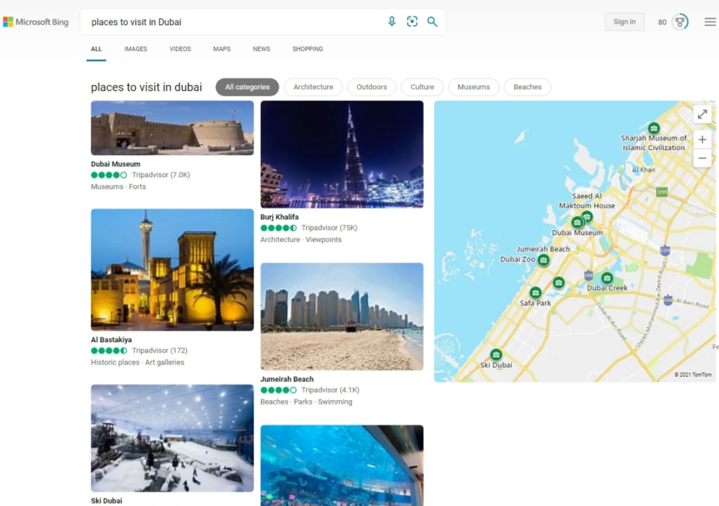 New search experience for Local answers - Microsoft Bing