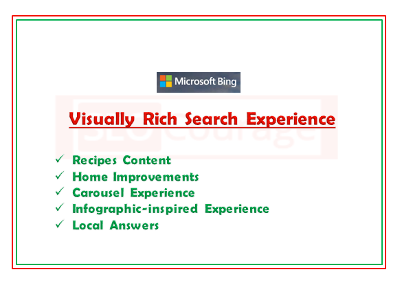 Microsoft Bing Updates - Visually Rich Search Results