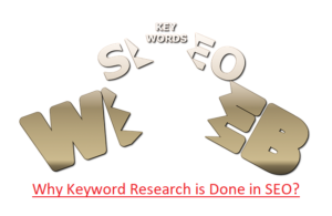 Why keyword research is done in SEO?