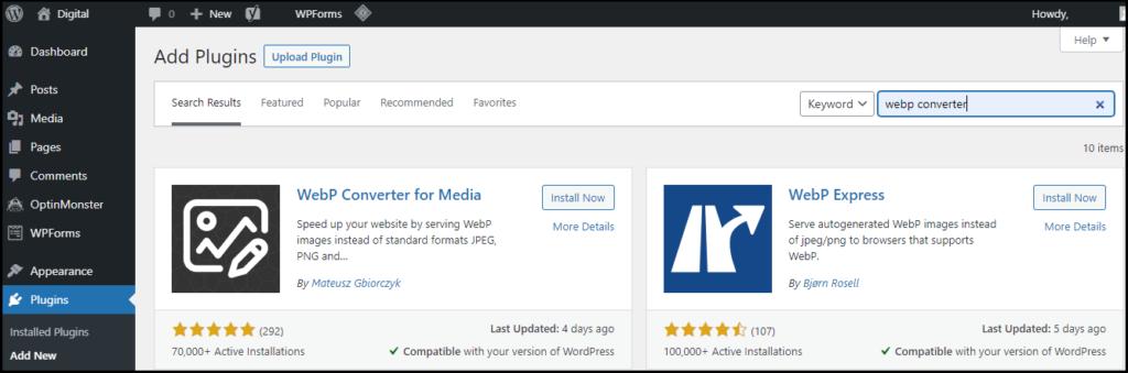 Add WebP Converter for Media Plugin