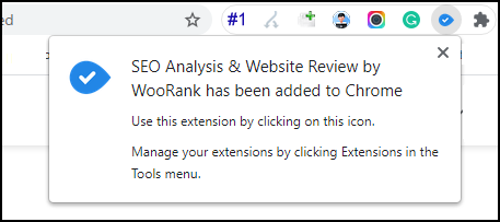 WooRank Chrome Extension Added
