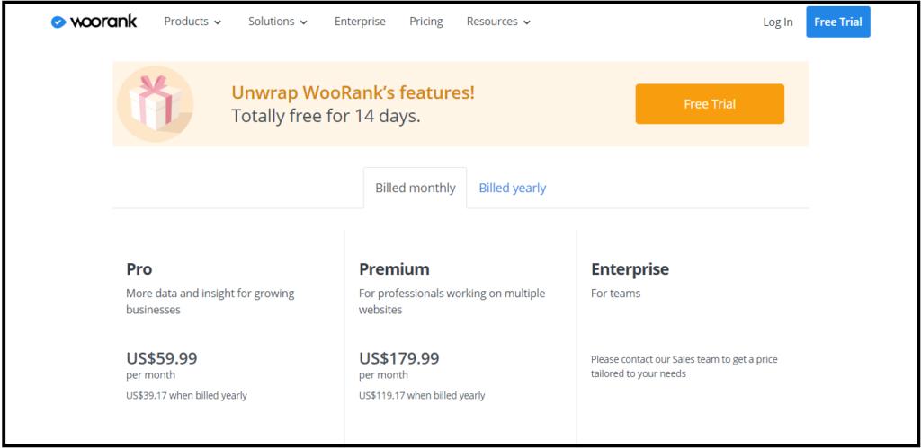 WooRank Pricing Details